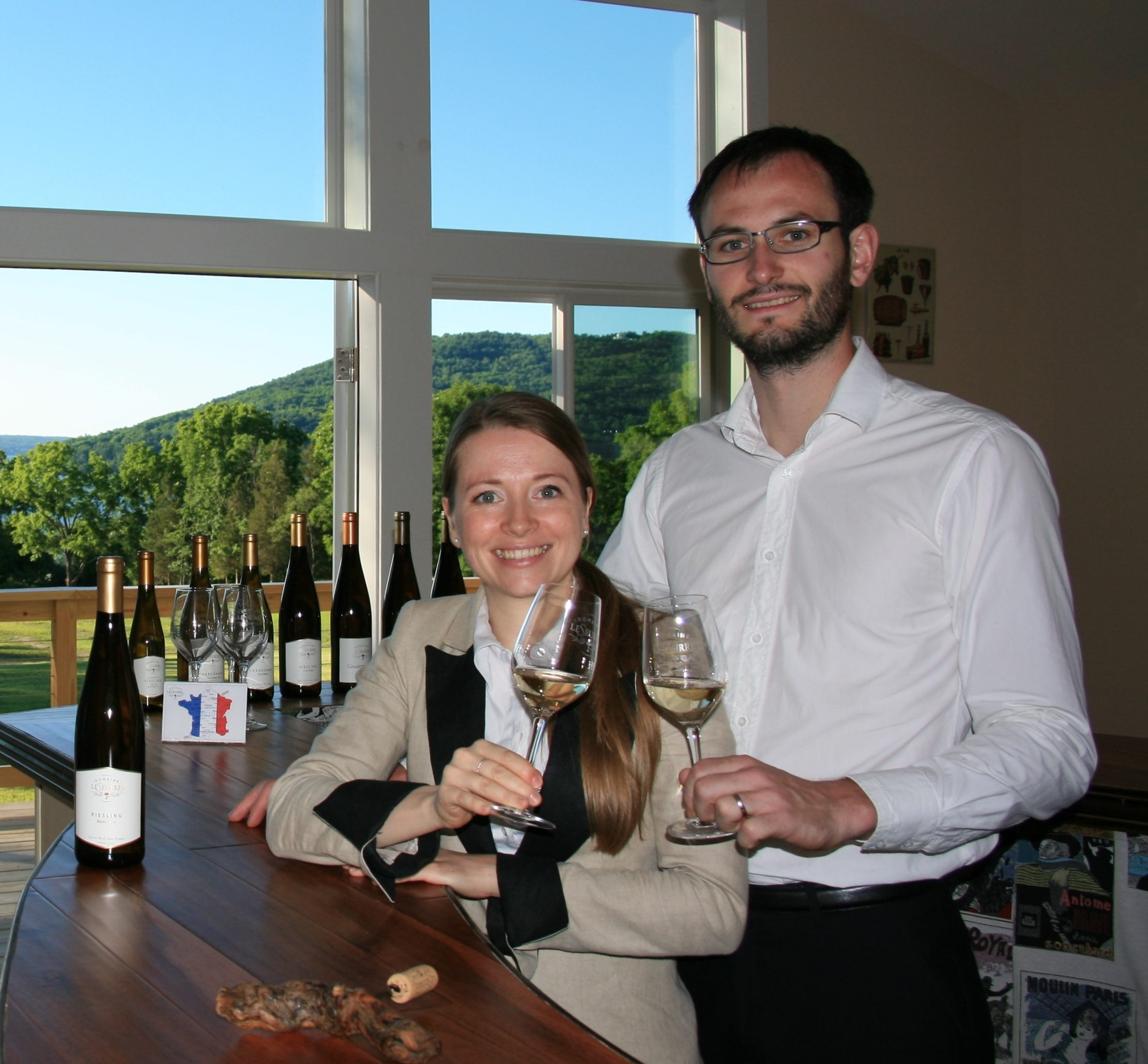 From France to the Finger Lakes – Meet Winemakers, Céline and Sébastien LeSeurre